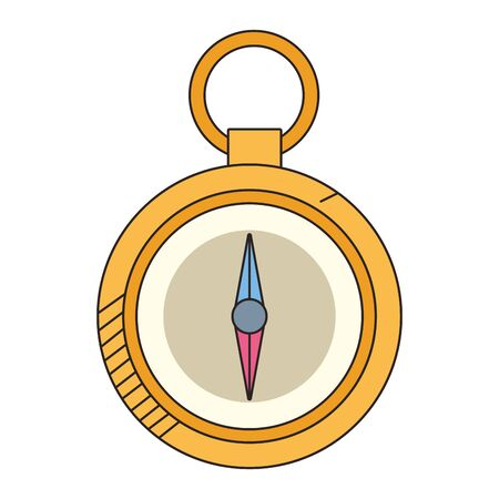 compass utensil icon over white background, colorful design.