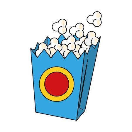 pop corn box icon over white background, vector illustration Illustration