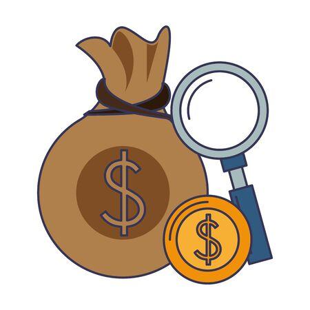 saving money business finance banking concept elements cartoon vector illustration graphic design