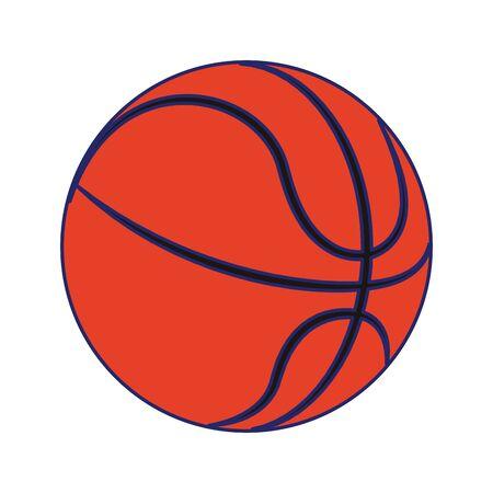 basketball ball icon over white background, vector illustration Illustration