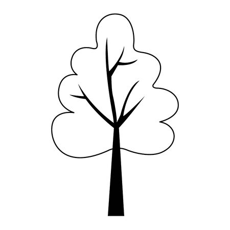 autumn tree plant seasonal isolated icon vector illustration design