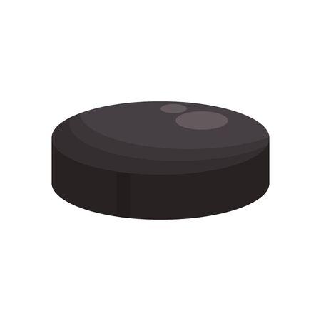 hockey disk icon over white background, vector illustration Illustration