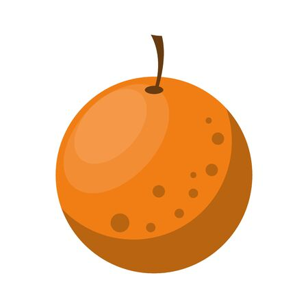 delicious orange icon cartoon isolated vector illustration graphic design