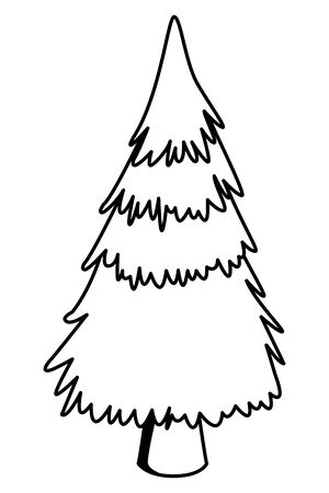 Tree pine nature cartoon ,vector illustration graphic design.