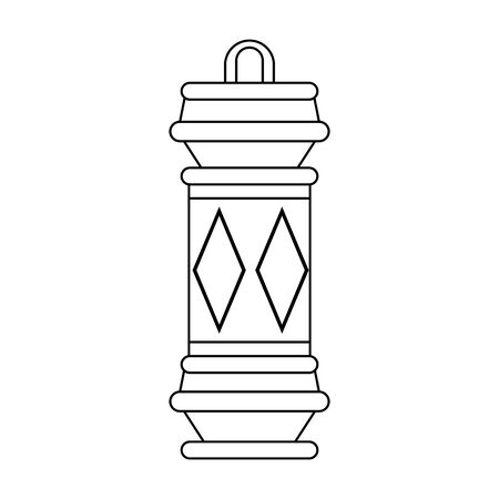 lantern decoration festival purple lamp, arabic and oriental culture cartoon vector illustration graphic design