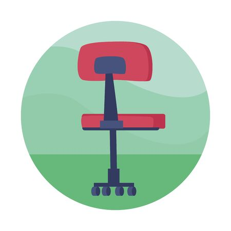 Office chair with wheels cartoon ,vector illustration graphic design.