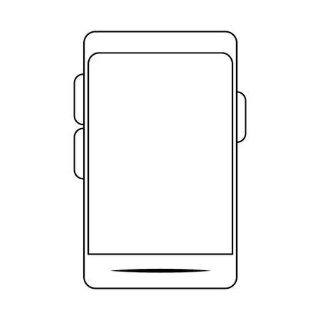 smartphone device iconover white background, vector illustration