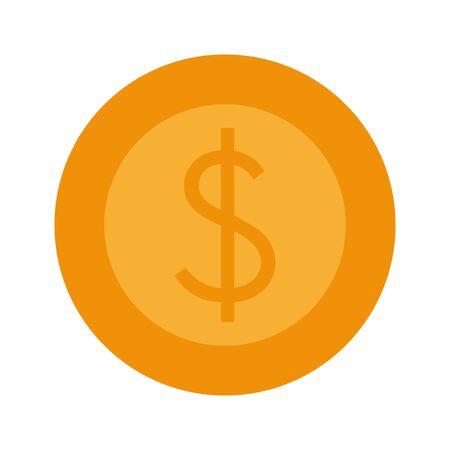 saving money cash coin cartoon vector illustration graphic design Çizim