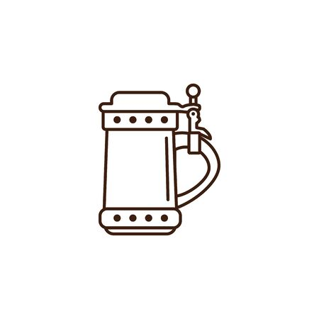 beer dispenser oktoberfest celebration isolated icon vector illustration design Ilustração