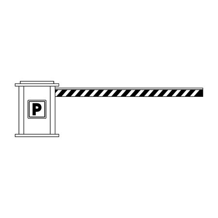 parking barrier icon over white background, vector illustration