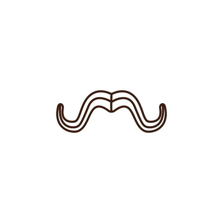 mustache oktoberfest celebration isolated icon vector illustration design