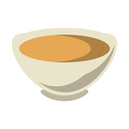 chinese tea cup icon over white background, vector illustration Ilustração