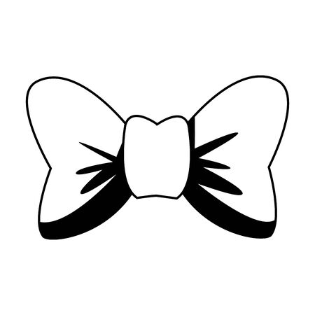 ribbon bowtie accessory isolated icon vector illustration design