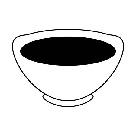 chinese tea cup icon over white background, vector illustration Иллюстрация