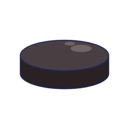 hockey disk icon over white background, vector illustration Иллюстрация
