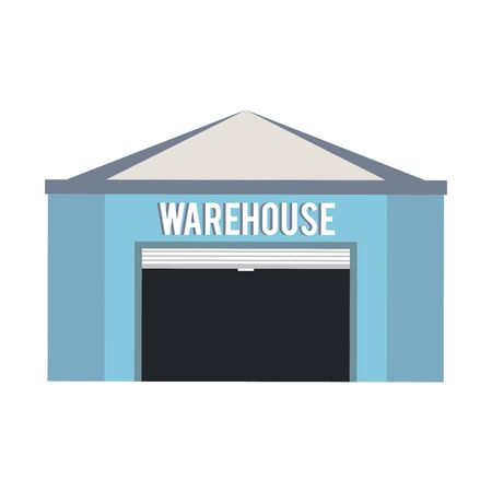 Warehouse storage building empty isolated vector illustration