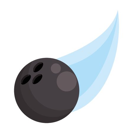 bowling ball flying icon over white background, vector illustration
