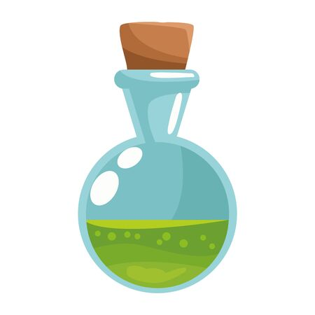 spell bottle halloween isolated icon vector illustration design Иллюстрация
