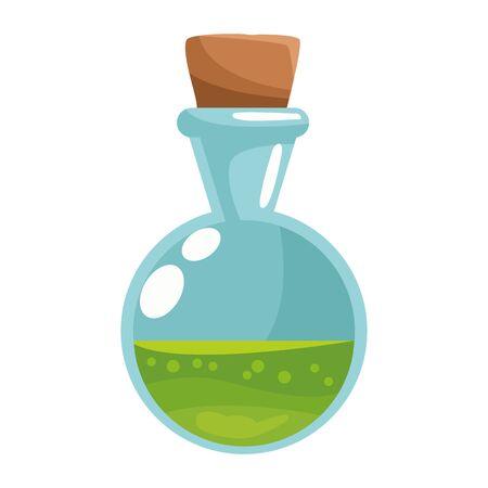 spell bottle halloween isolated icon vector illustration design Çizim