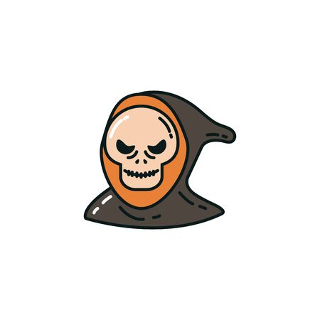 halloween death face flat character vector illustration design Reklamní fotografie - 131401948