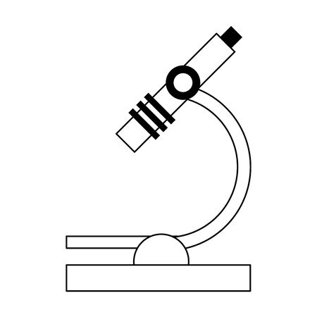 microscope object icon over white background, vector illustration