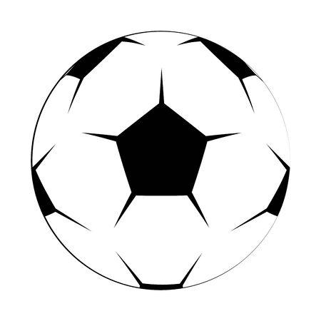 Soccer football ball equipment cartoon isolated vector illustration graphic design