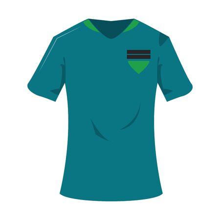 Soccer player tshirt sport clothes vector illustration graphic design Stock Illustratie