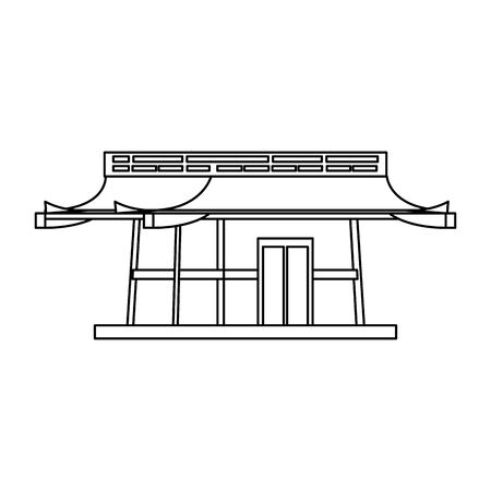 Asian temple icon over white background, vector illustration 일러스트