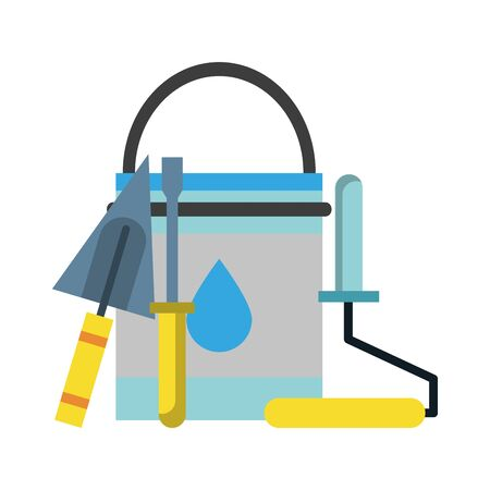 painting work house renovation accesories cartoon vector illustration graphic design