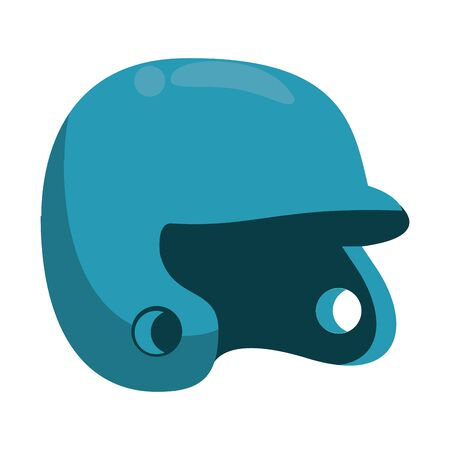 baseball equiment elements batter helmet icon cartoon vector illustration graphic design