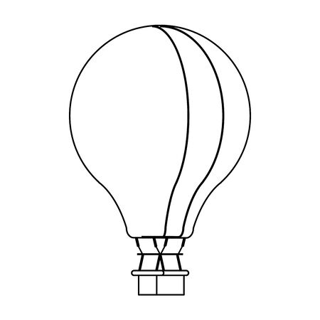 Hot air balloon isolated symbol vector illustration graphic design