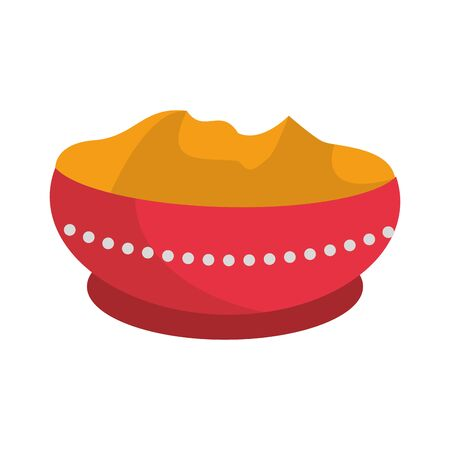 Ugadi festival offering pot cartoons vector illustration graphic design