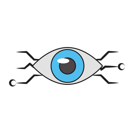 Bionic eye technology symbol vector illustration graphic design