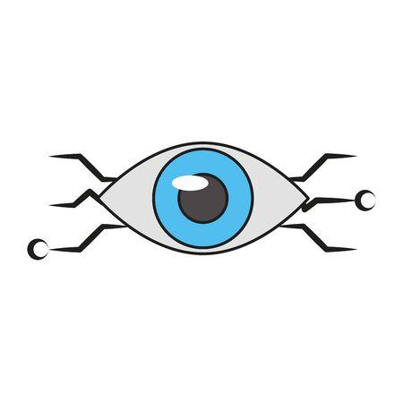 Bionic eye technology symbol vector illustration graphic design