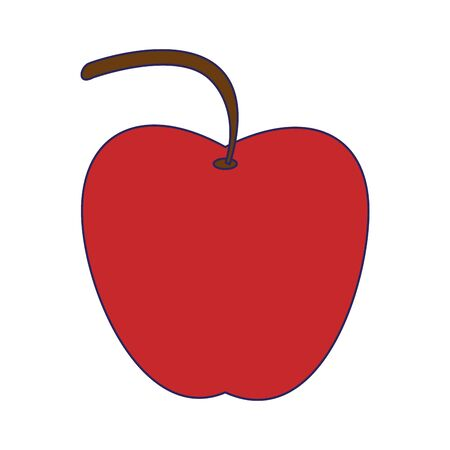 delicious apple icon cartoon isolated vector illustration graphic design