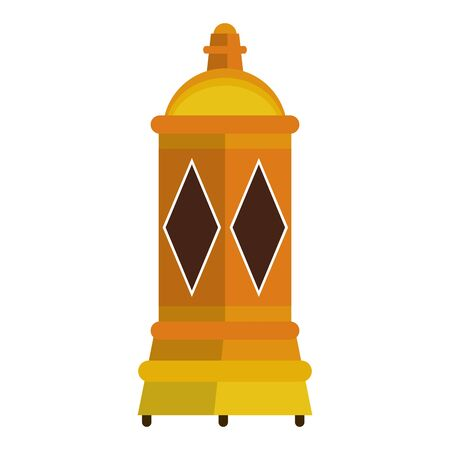 lantern decoration festival golden lamp, arabic and oriental culture cartoon vector illustration graphic design Çizim