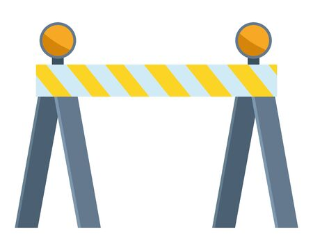 Construction road barrier with lights vector illustration graphic design.