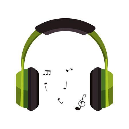 Music heaphones eletronic devices cartoon isolated vector illustration graphic design Vecteurs
