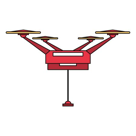 remote control red air drone cartoon vector illustration graphic design