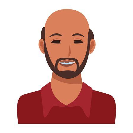man avatar cartoon character portrait vector illustration graphic design Ilustração