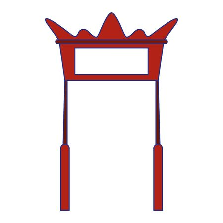 Antique chinese door entrance building vector illustration graphic design