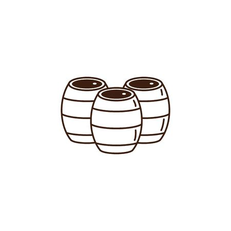 beer oktoberfest celebration isolated icon vector illustration design