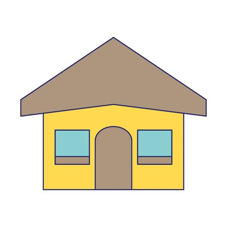 House real estate symbol isolated vector illustration graphic design