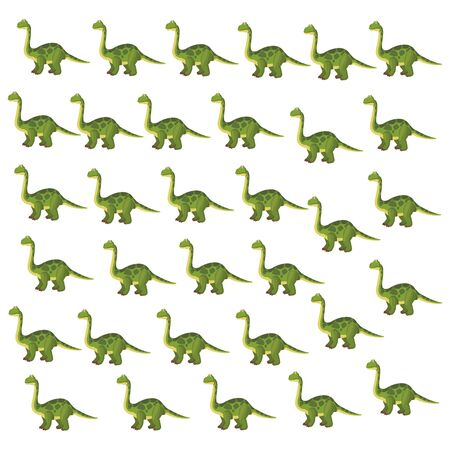 Brontosaurus dinosaur cartoon pattern background vector illustration graphic design 일러스트