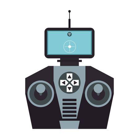air drone remote control technology device cartoon vector illustration graphic design Illustration