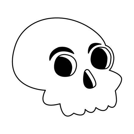 halloween head skull isolated icon vector illustration design