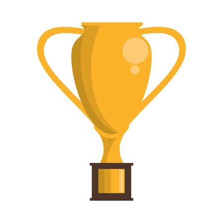 Sport game trophy cup championship symbol vector illustration graphic design Ilustração