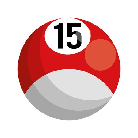 billiard ball icon over white background, vector illustration