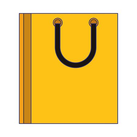 Shopping bag retail symbol isolated cartoon vector illustration graphic design Illustration