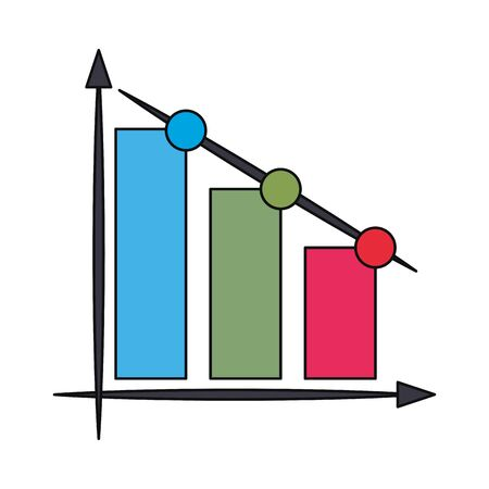 Statistics bars growing isolated symbol vector illustration graphic design